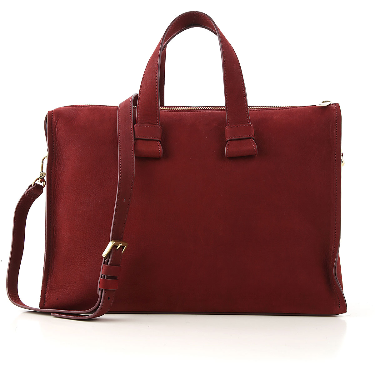 Orciani Top Handle Handbag On Sale, Dark Ruby, Suede leather, 2019