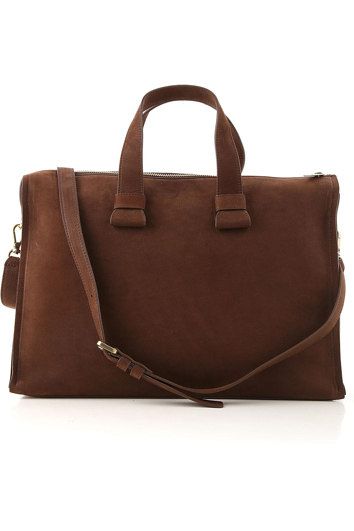 Orciani Top Handle Handbag On Sale, Cigar, Suede leather, 2019