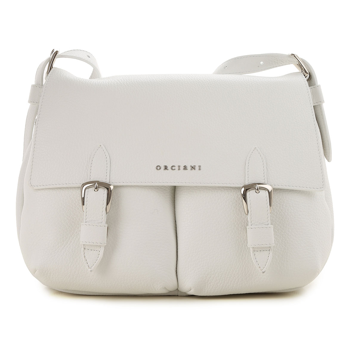 Orciani Shoulder Bag for Women On Sale, White, Leather, 2019