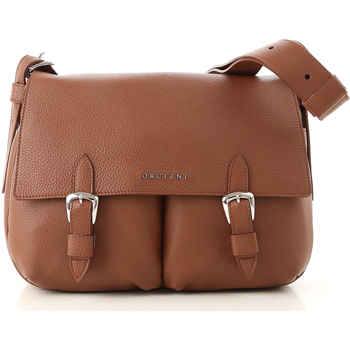 Orciani Shoulder Bag for Women On Sale, Cigar, Leather, 2019