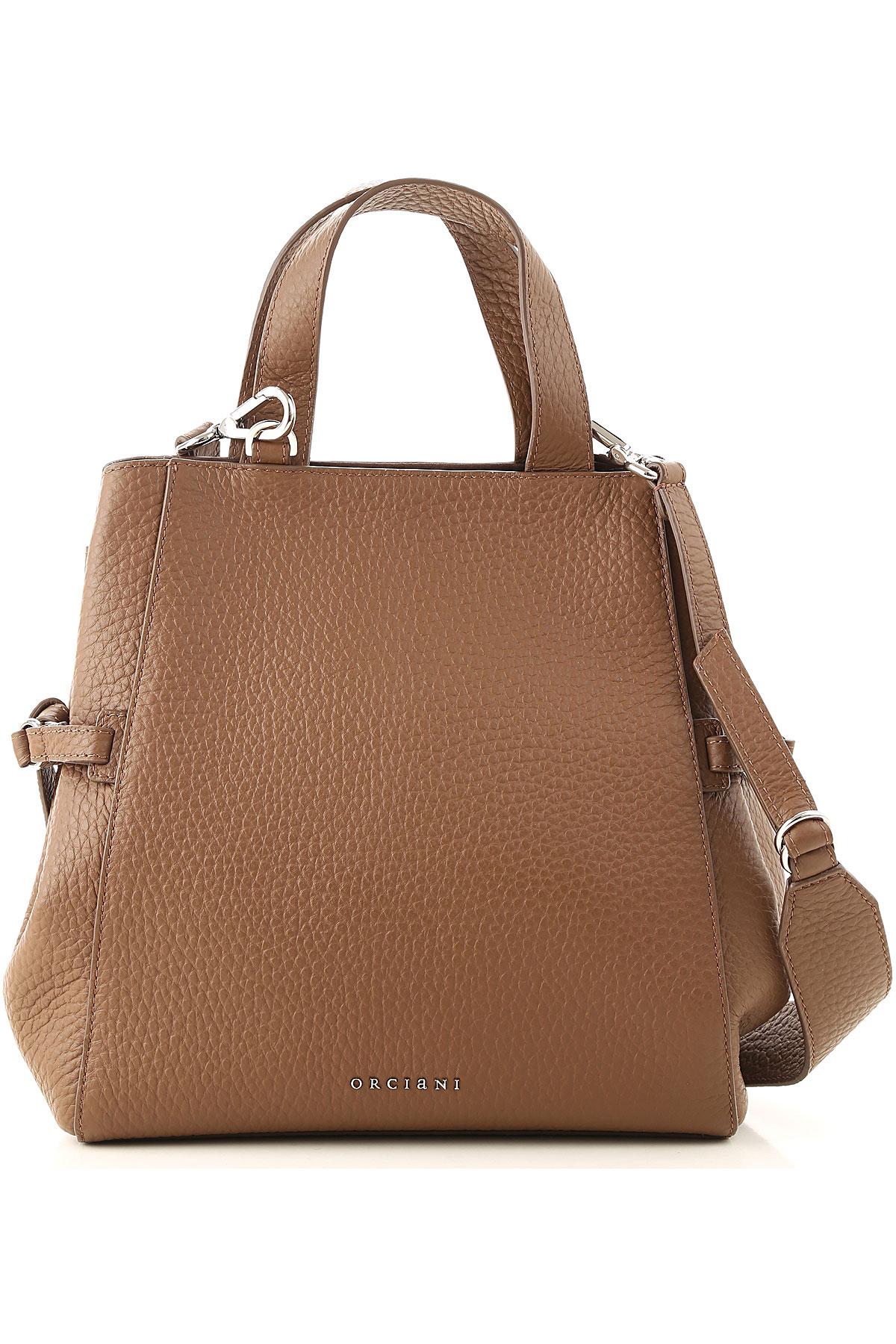Orciani Top Handle Handbag On Sale, Caramel, Leather, 2019