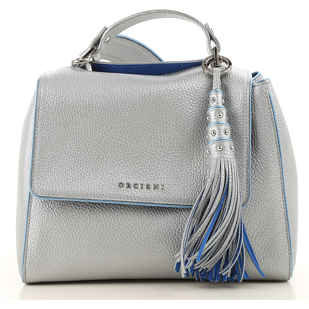 Orciani Shoulder Bag for Women, Silver, Leather, 2017 USA-455553
