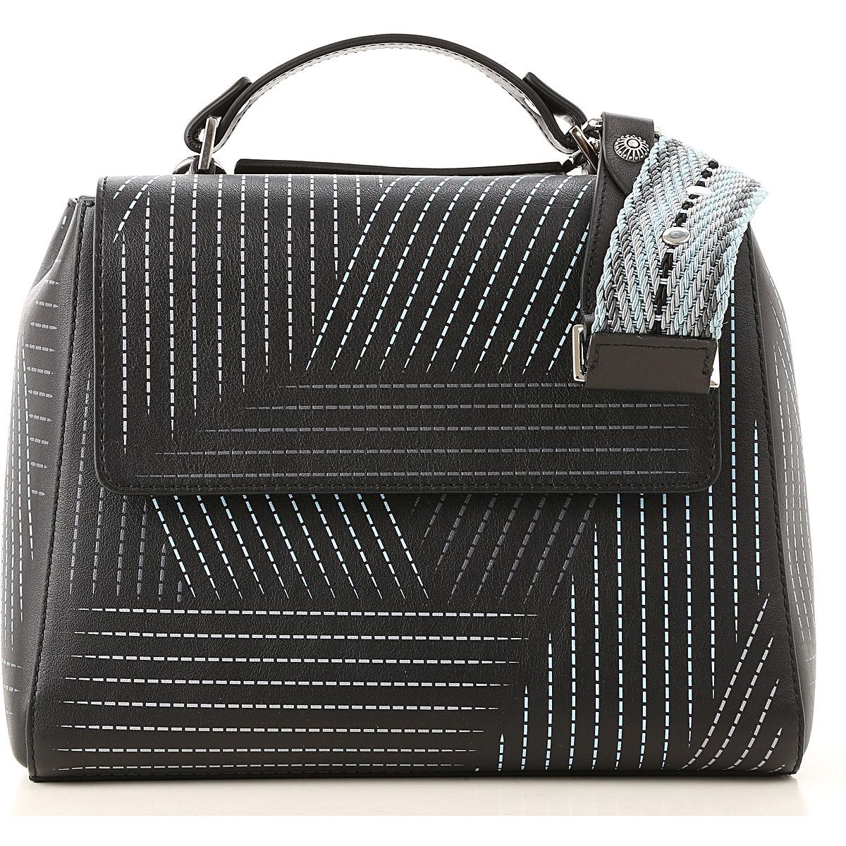 Orciani Top Handle Handbag On Sale, Black, Leather, 2019