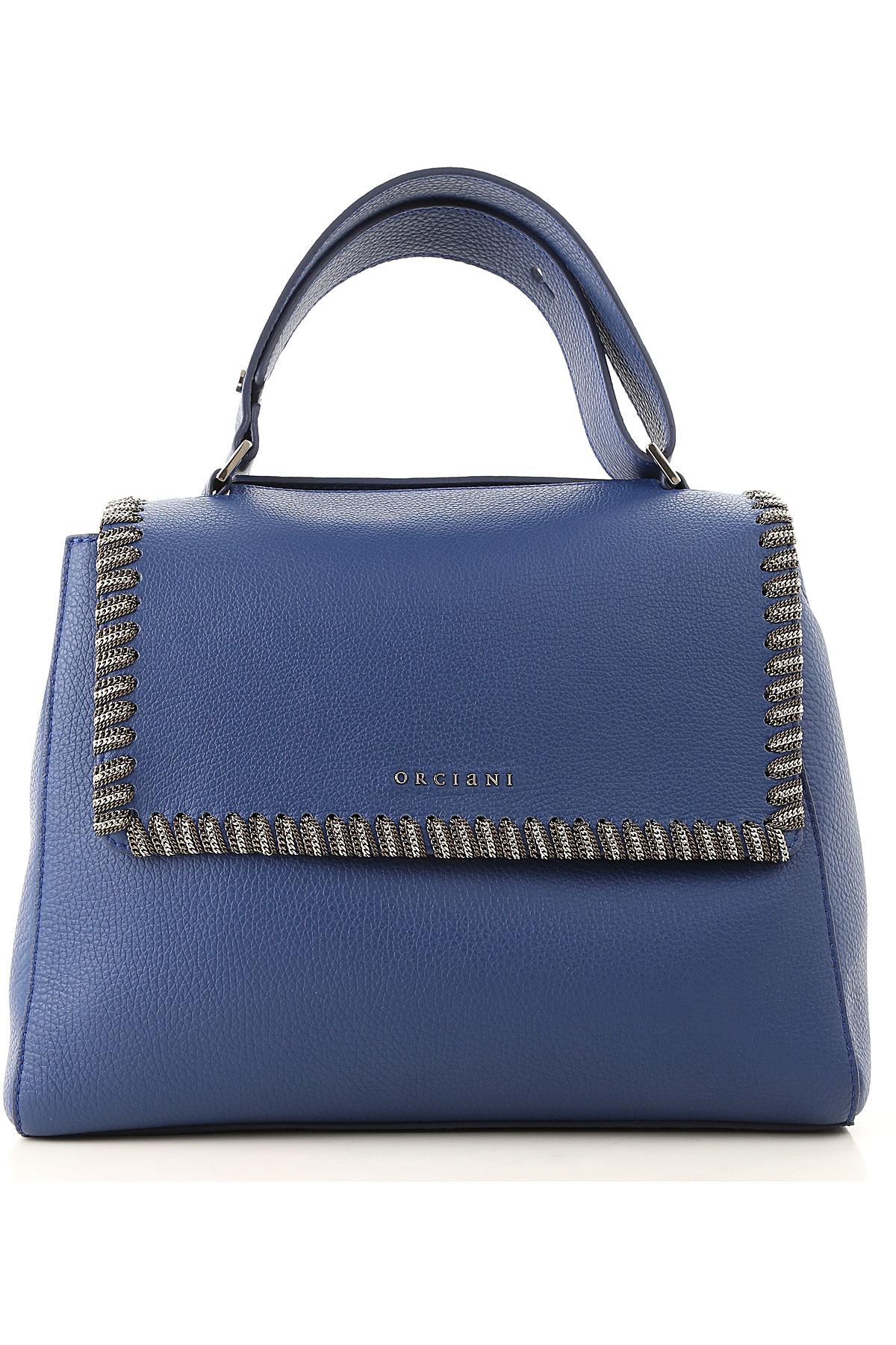 Orciani Top Handle Handbag On Sale, Bluette, Leather, 2019