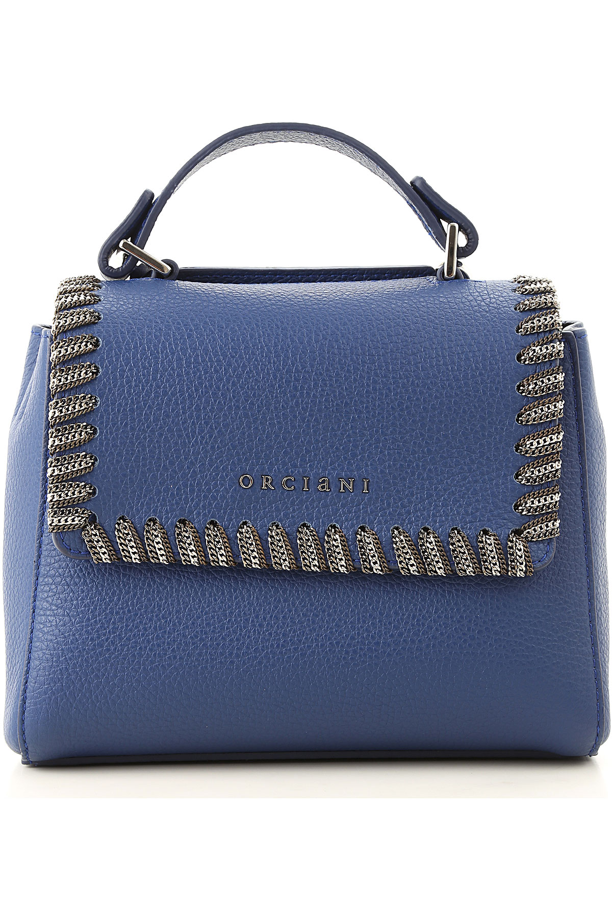Orciani Shoulder Bag for Women On Sale, Bluette, Leather, 2019