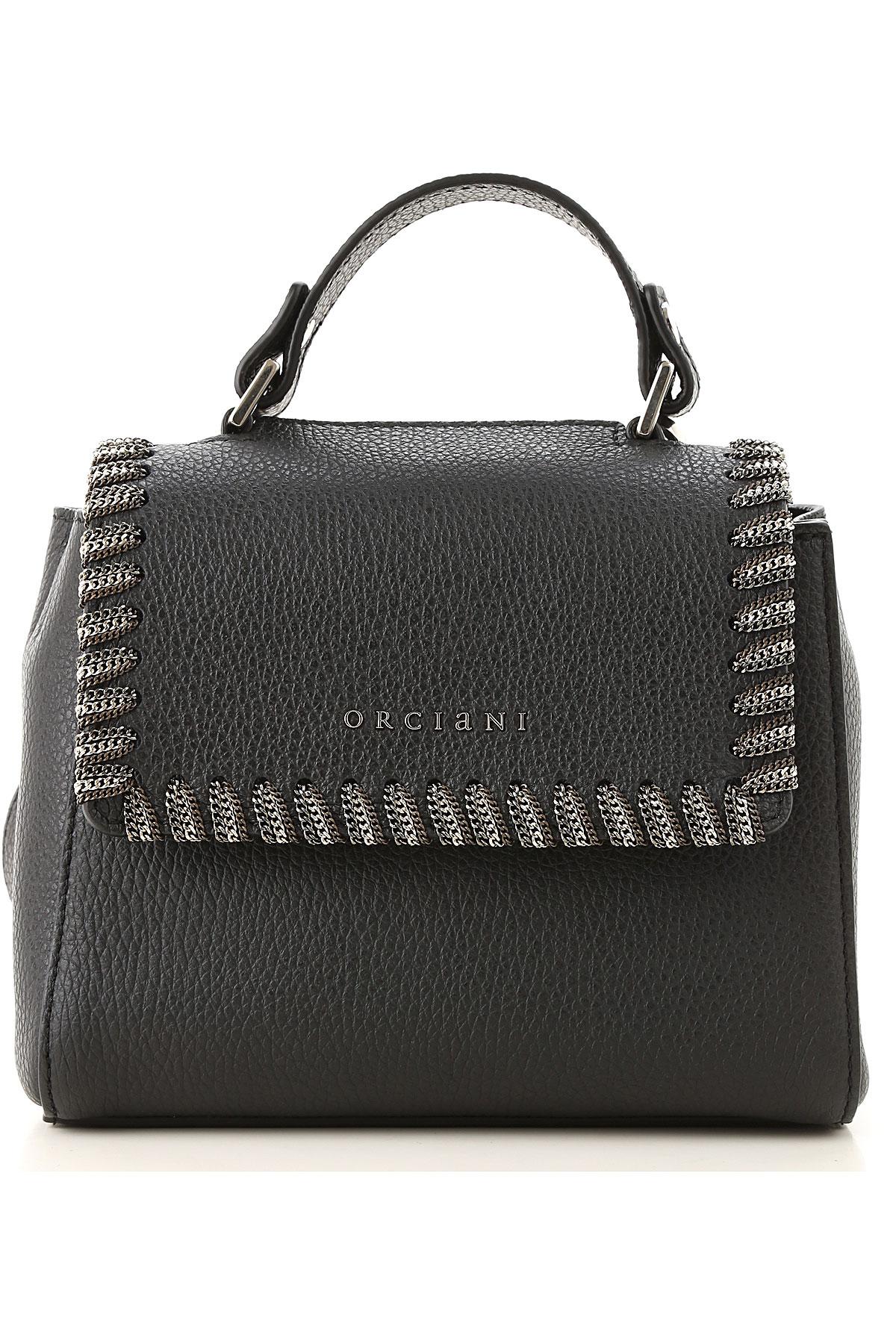 Orciani Shoulder Bag for Women On Sale, Black, Leather, 2019