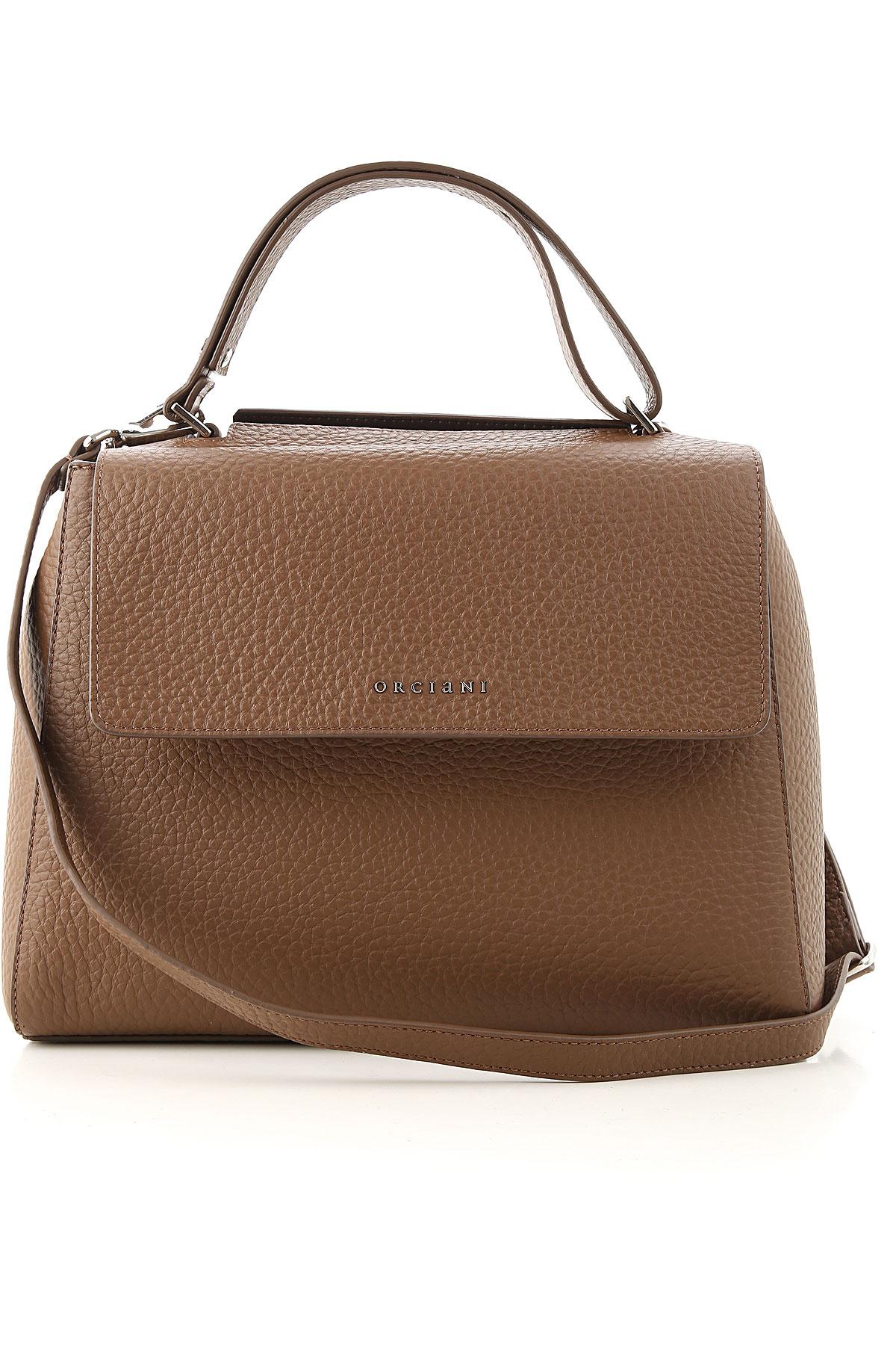 Orciani Shoulder Bag for Women On Sale, Caramel, Leather, 2019