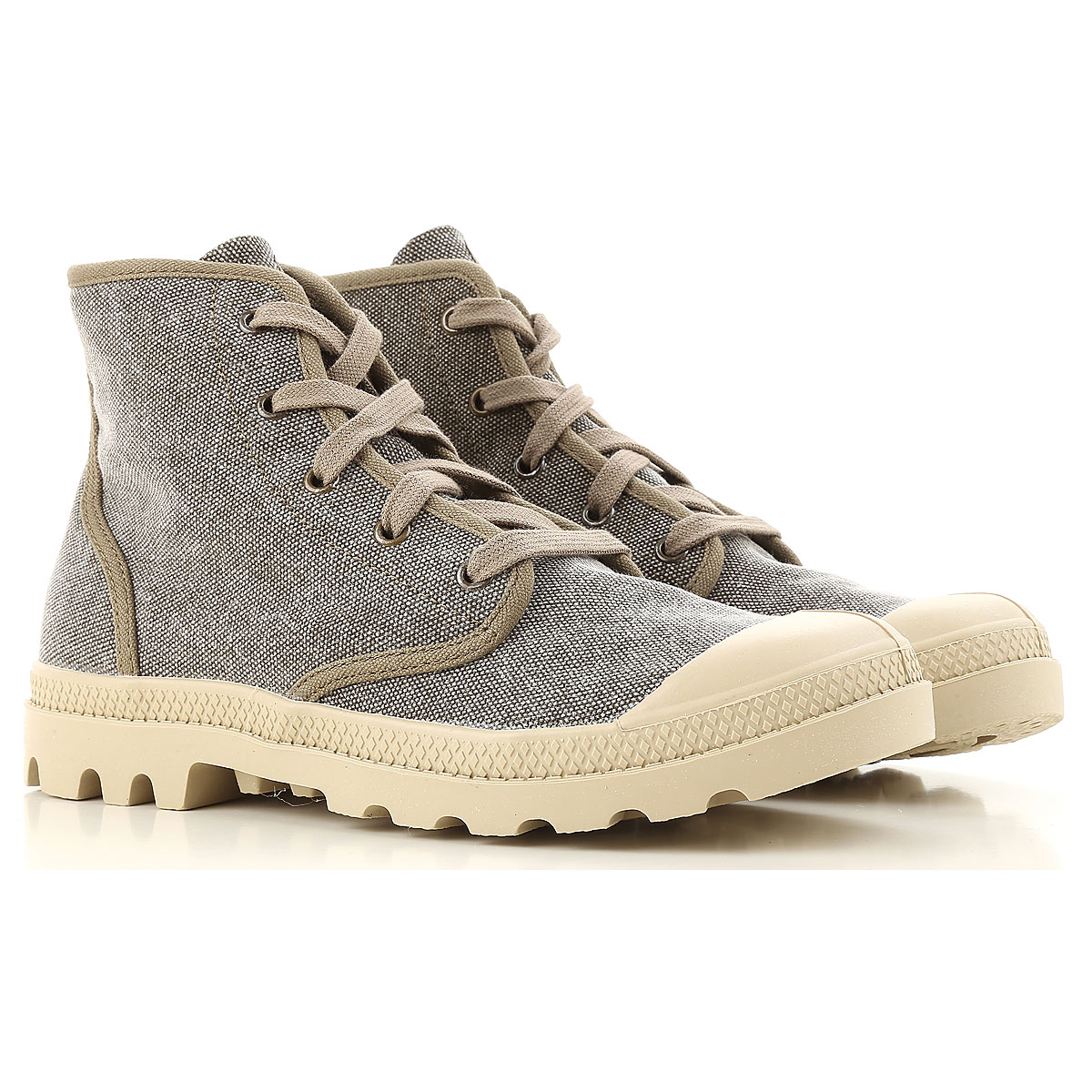 Image of Raffaello Sneakers for Women On Sale in Outlet, Dove Grey, Canvas, 2017, 10 11