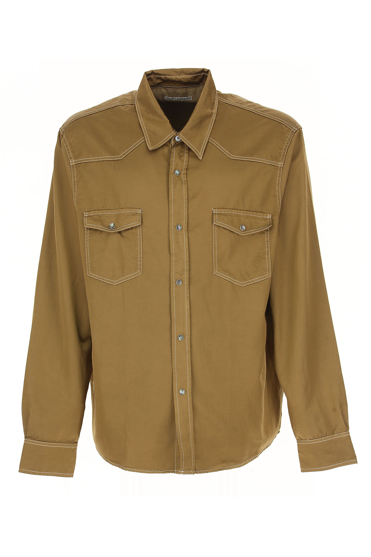 Image of Our Legacy Shirt for Men, Olive, Cotton, 2017, 34 36