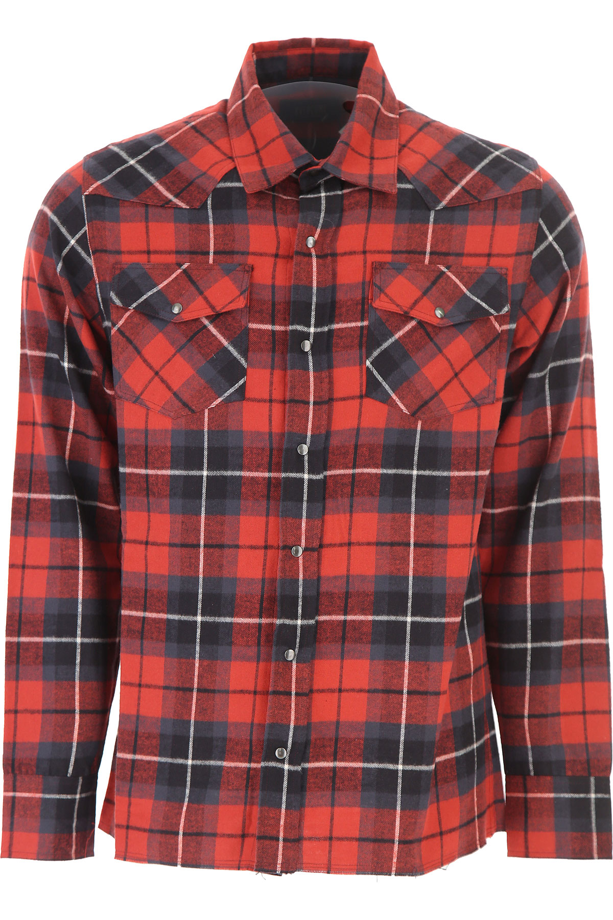 Image of Overcome Shirt for Men, Red, Cotton, 2017, 32 36