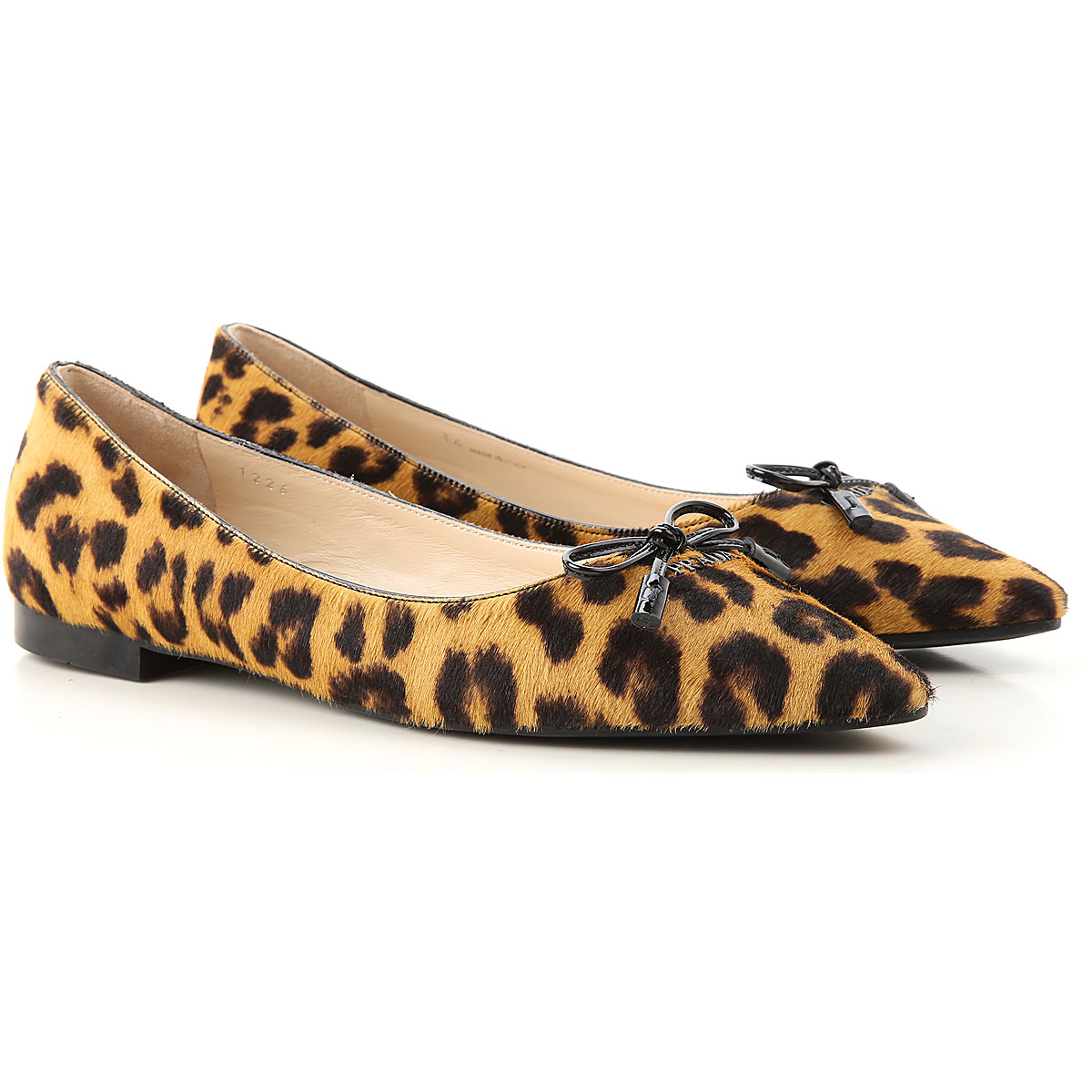 Prada Ballet Flats Ballerina Shoes for Women On Sale, Leopard, Leather, 2019, 5.5 6 6.5 7 9