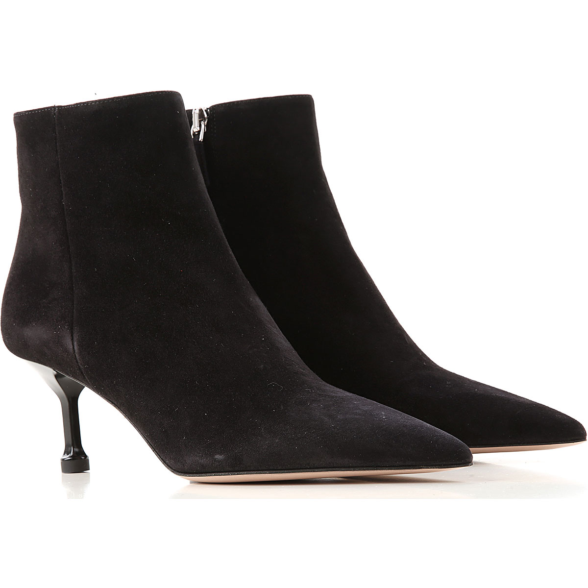 Prada Boots for Women, Booties On Sale, Black, Suede leather, 2019, 5.5 6 7.5 8.5