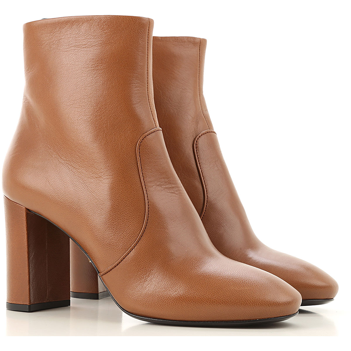 Prada Boots for Women, Booties On Sale, Cognac, Leather, 2019, 5.5 6 7 7.5 9