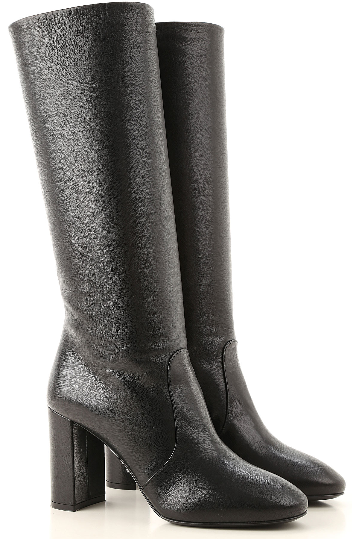 Prada Boots for Women, Booties On Sale, Black, Leather, 2019, 5 5.5 6.5 7.5 8 8.5 9