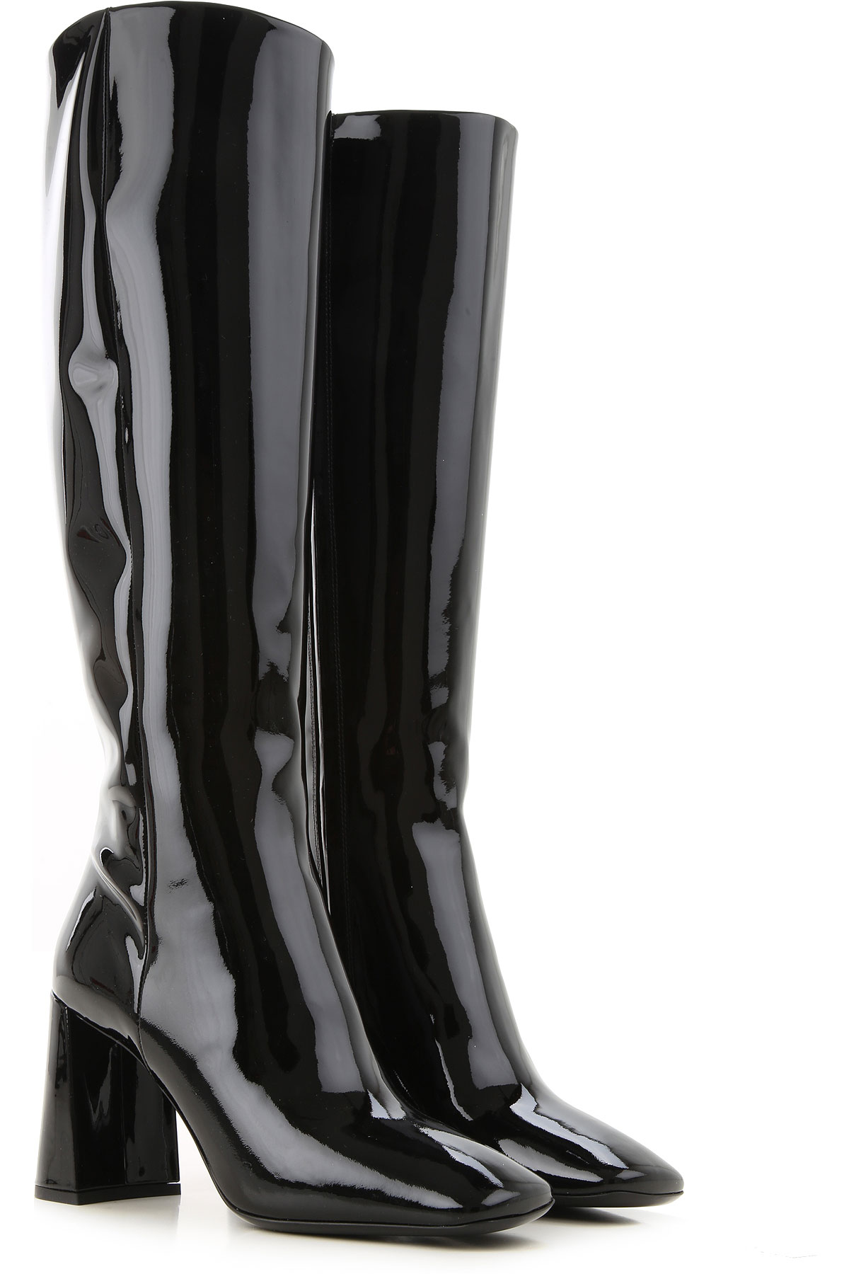 Prada Boots for Women, Booties On Sale, Black, Patent Leather, 2019, 10 11 5.5 6 6.5 7 7.5 8 8.5
