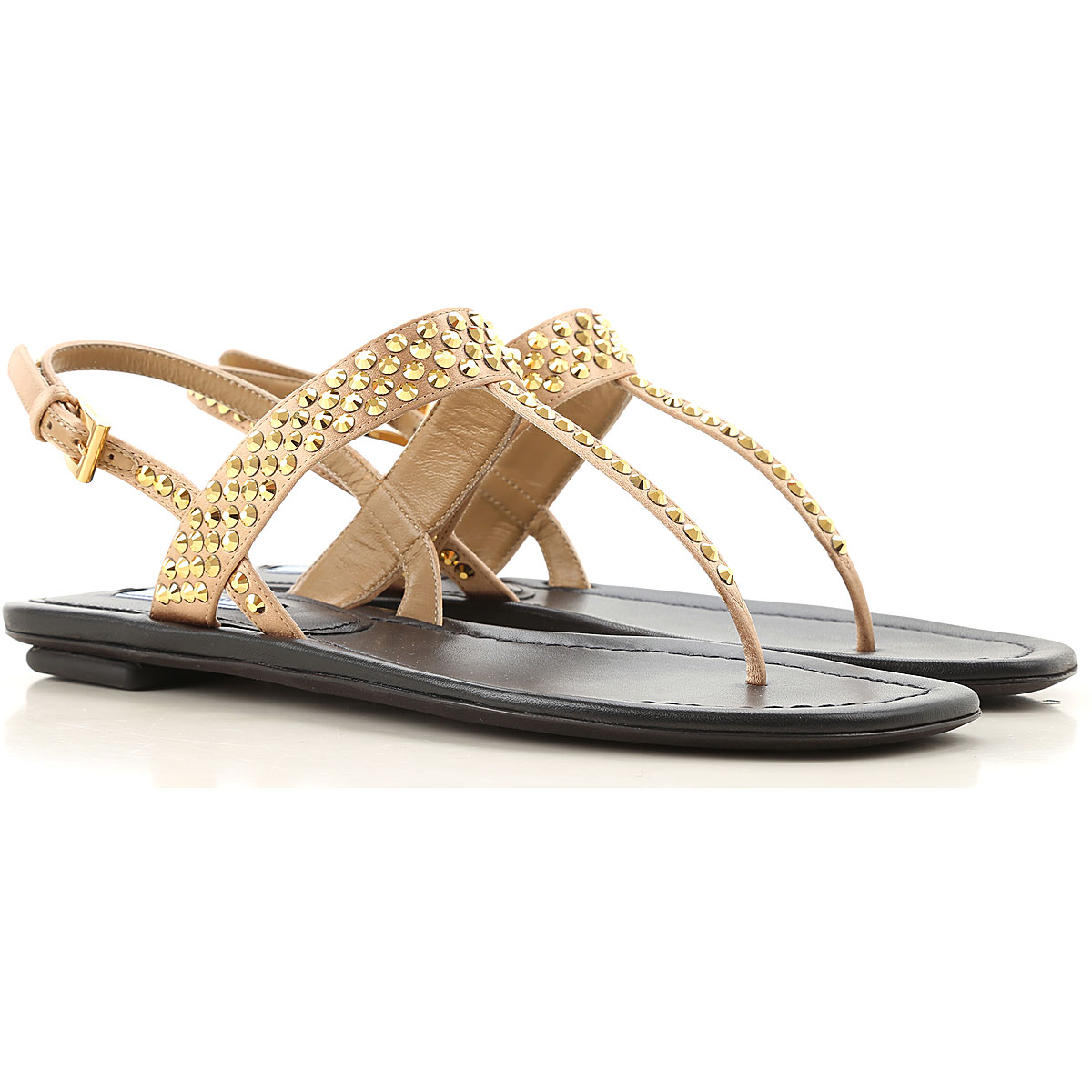 prada sandals for women on sale, gold, leather, 2019, 3 3.5 4.5 5 5.5 6 6.5 7.5