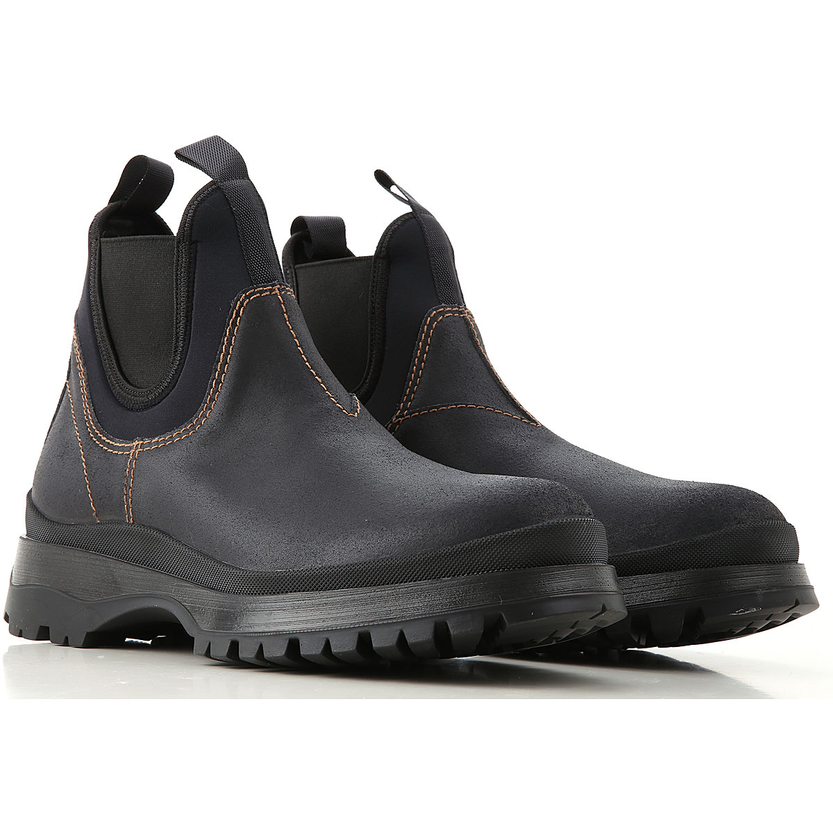 Prada Boots for Men, Booties On Sale, Black, Leather, 2019, 10 7.5 8 9