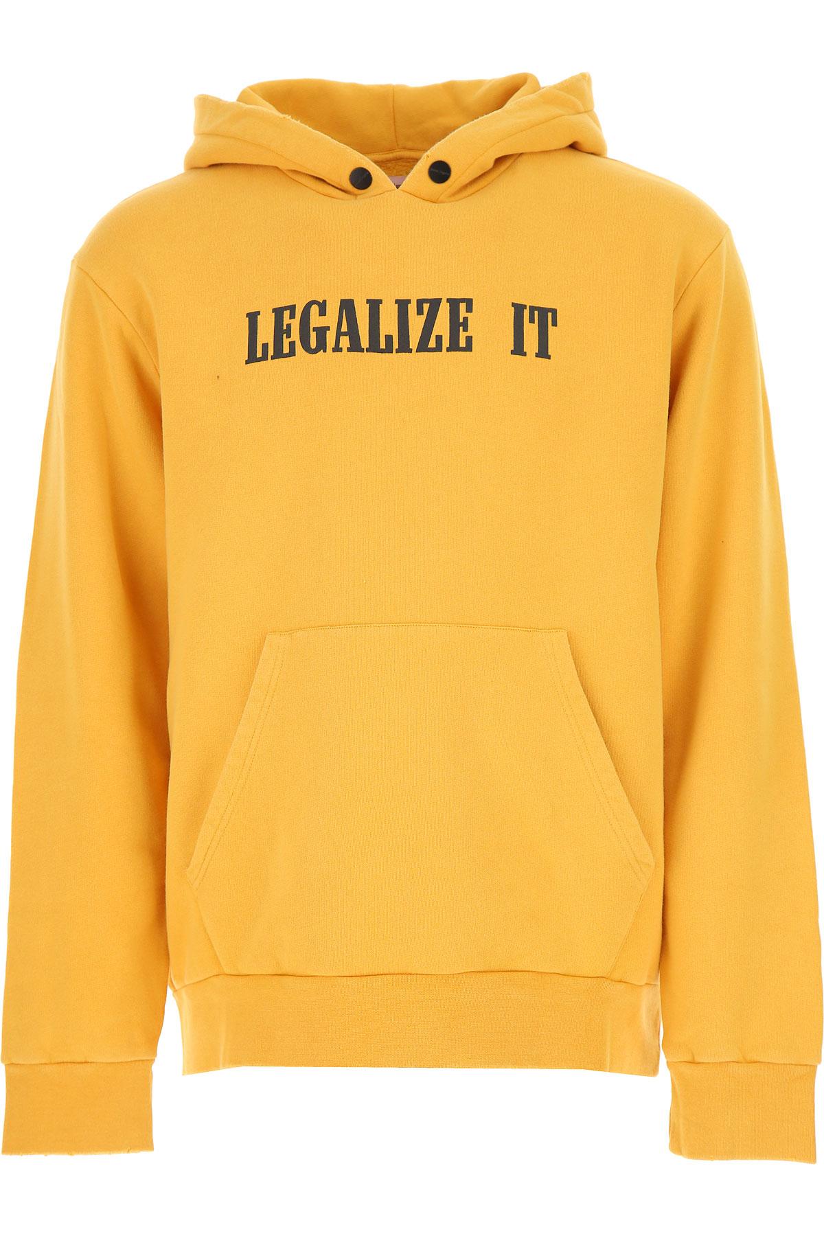 Palm Angels Sweatshirt for Men, Light Orange, Cotton, 2017, L M XL USA-476666