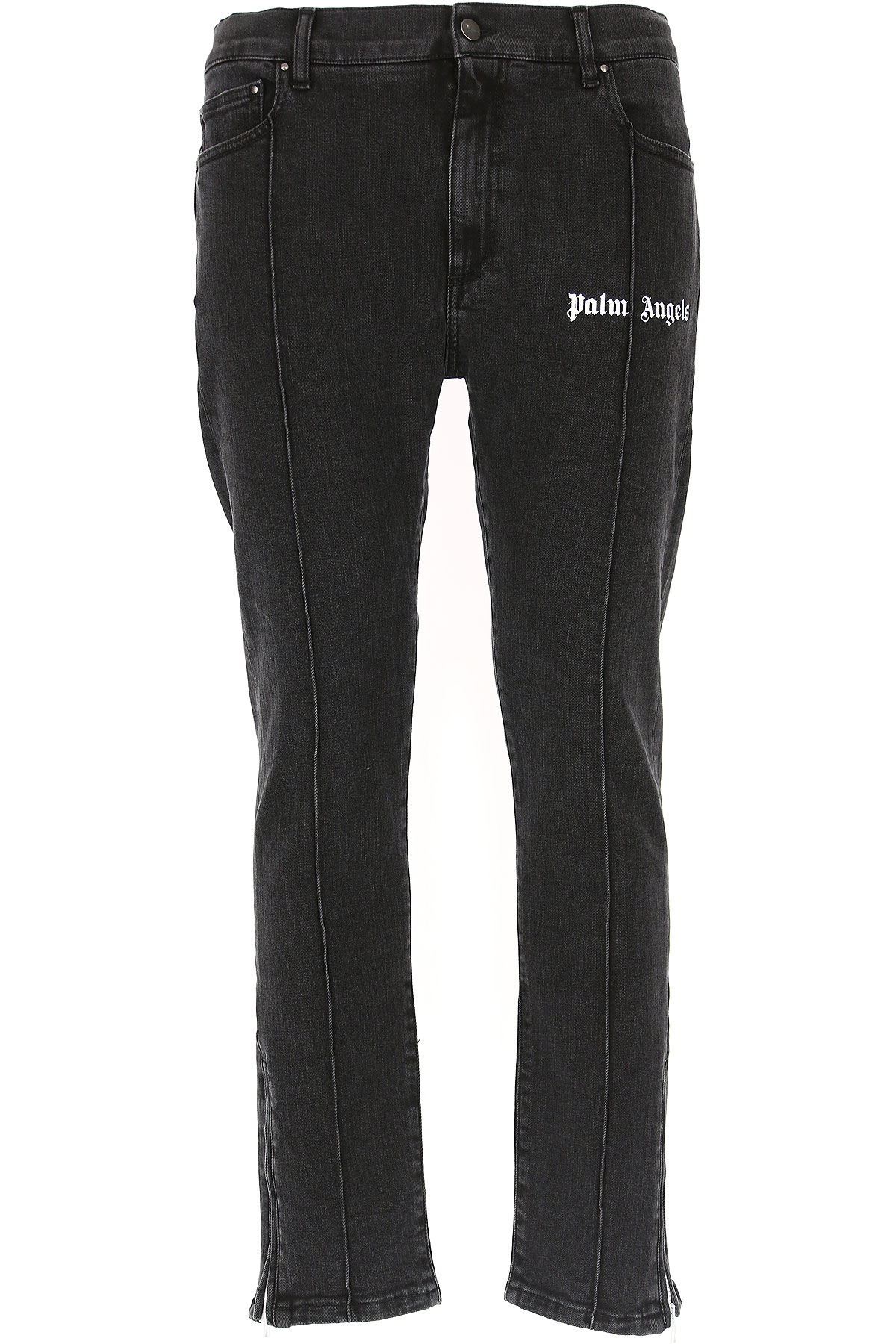 Image of Palm Angels Jeans, Denim Black, Cotton, 2017, 30 31 32 33