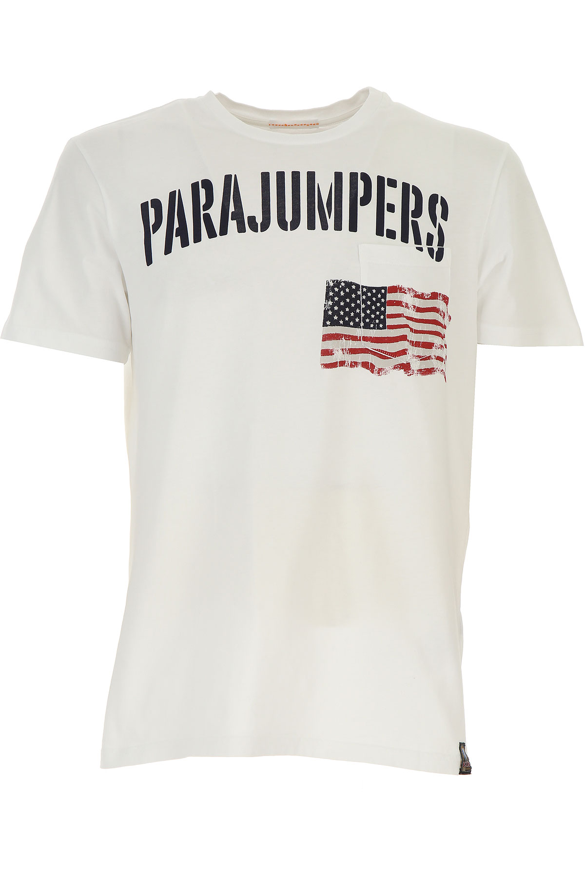 Image of Parajumpers T-Shirt for Men On Sale, White, Cotton, 2017, L M