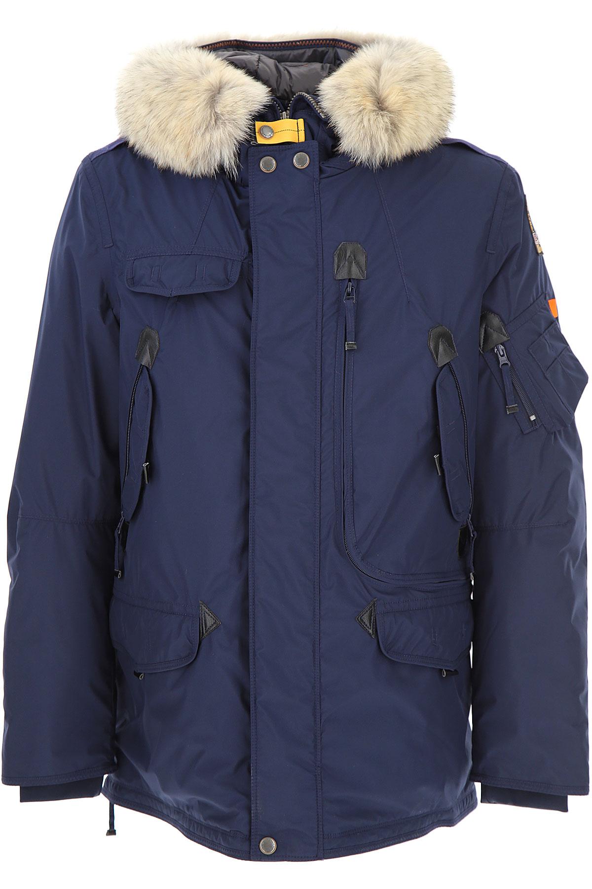 Image of Parajumpers Down Jacket for Men, Puffer Ski Jacket, navy, polyamide, 2017, L M XL