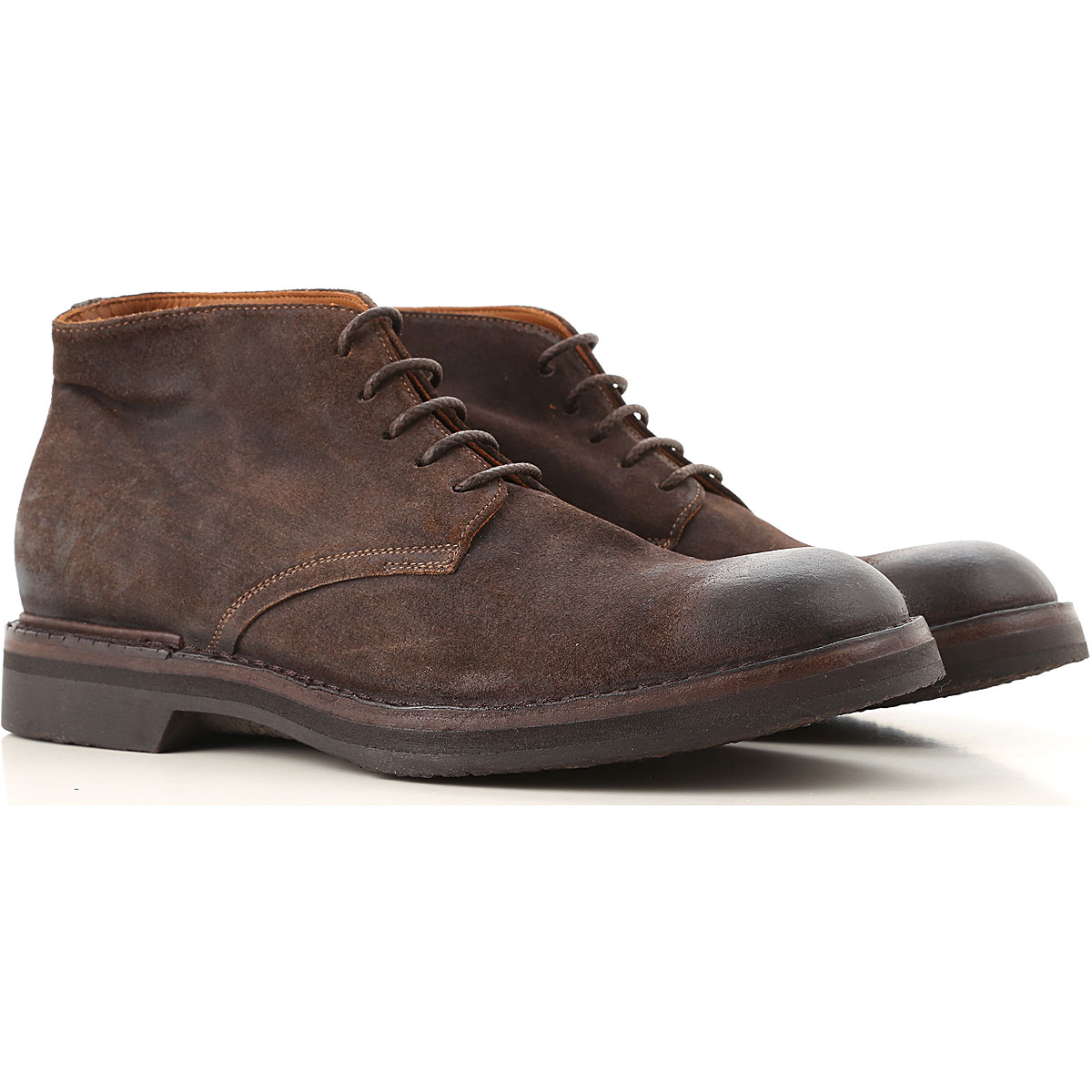 Image of Pantanetti Boots for Men, Booties, Brown, Suede leather, 2017, 10 10.5 7.5 8