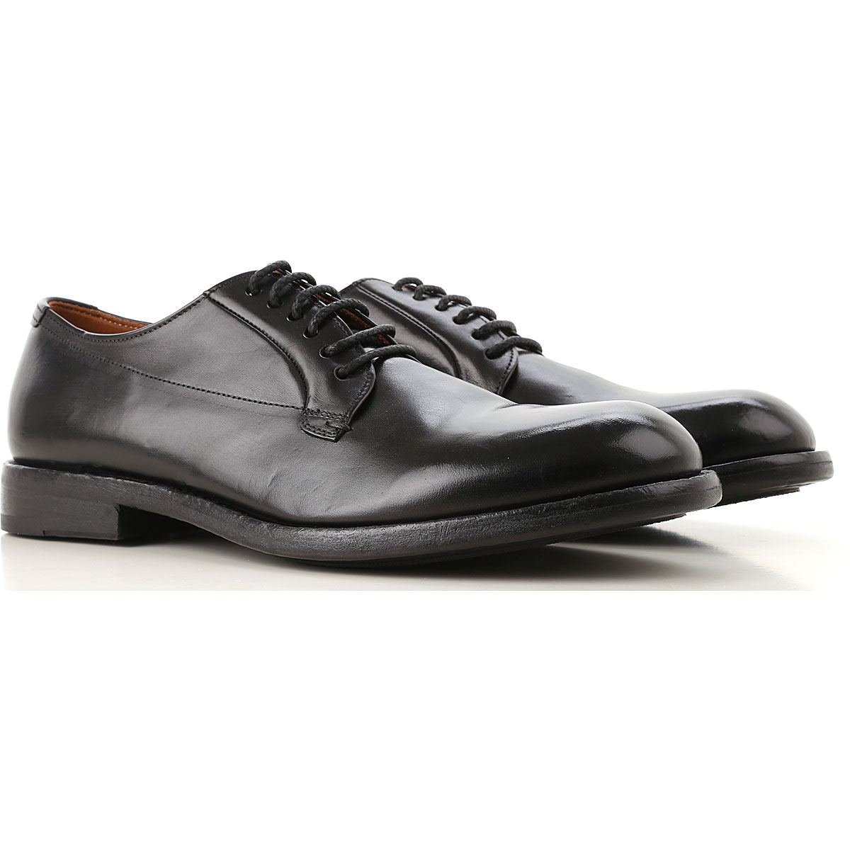 Image of Pantanetti Lace Up Shoes for Men Oxfords, Derbies and Brogues, Black, Leather, 2017, 10 10.5 8 9