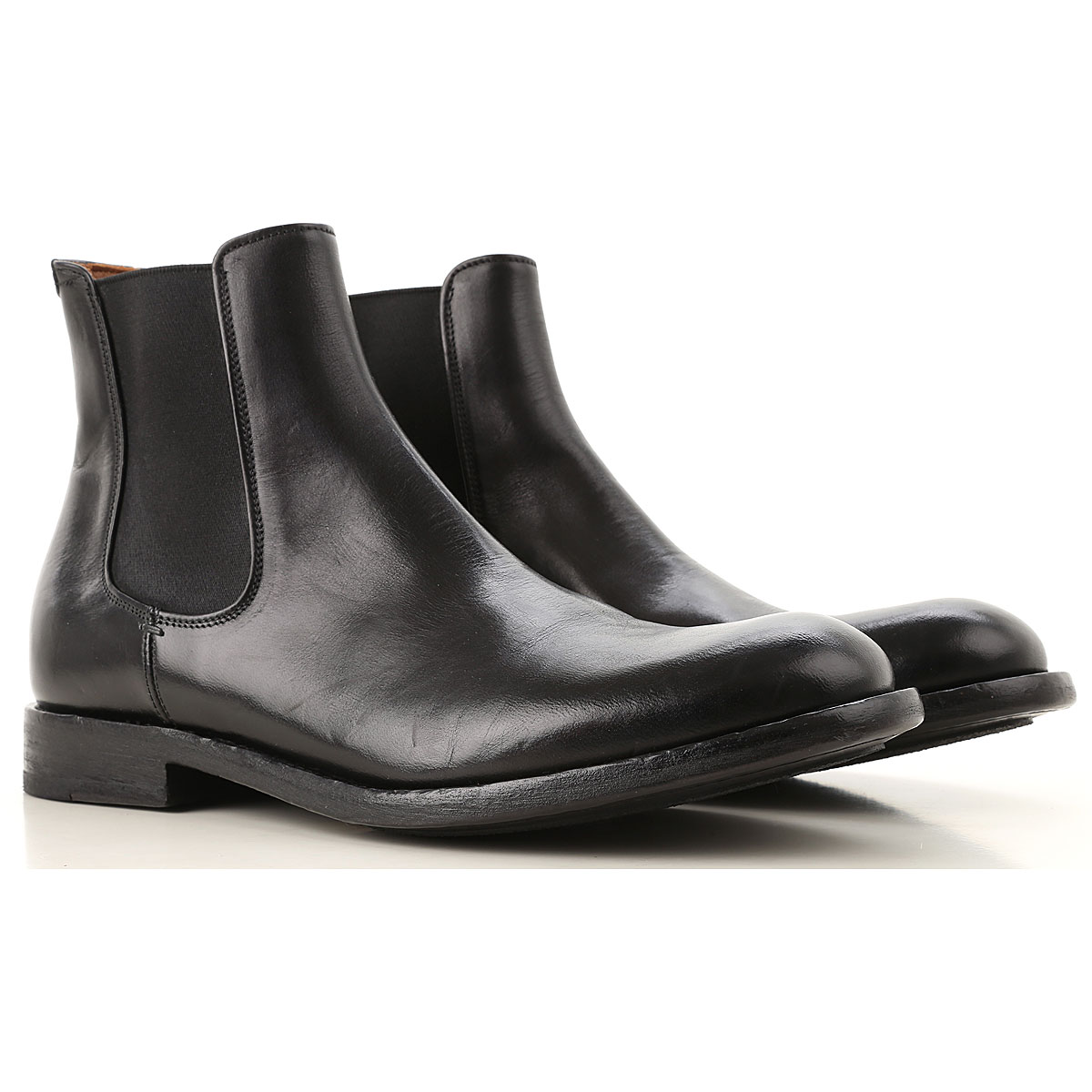 Image of Pantanetti Chelsea Boots for Men, Black, Leather, 2017, 10 10.5 7.5 8 9