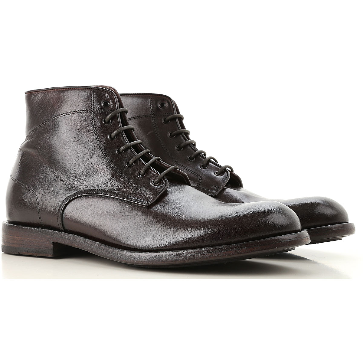 Image of Pantanetti Boots for Men, Booties, Moka, Leather, 2017, 10.5 7.5 8 9
