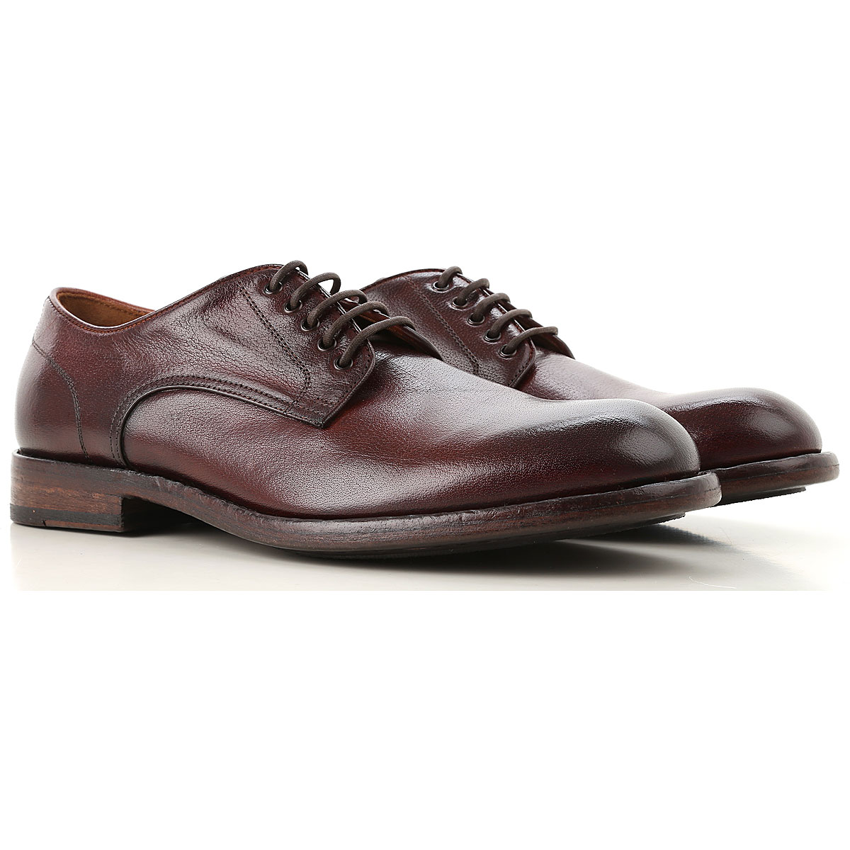 Image of Pantanetti Lace Up Shoes for Men Oxfords, Derbies and Brogues, Dark Leather Brown, Leather, 2017, 10 10.5 7.5 8 9