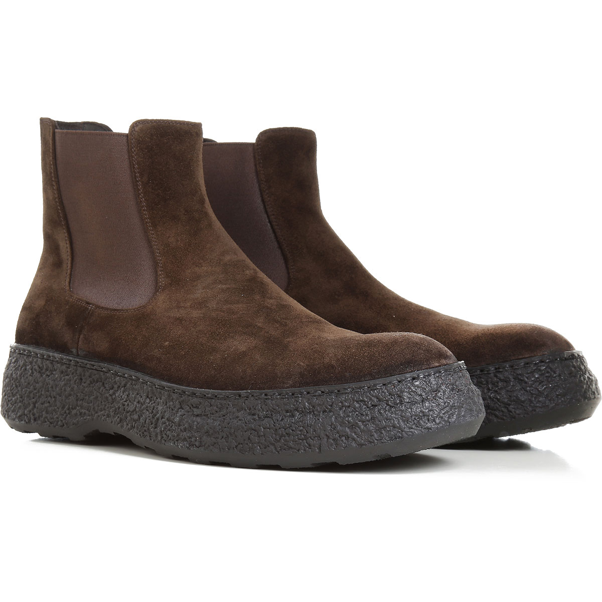 Pantanetti Boots for Men, Booties On Sale, Dark Olive Green, Suede leather, 2019, 7.5 9