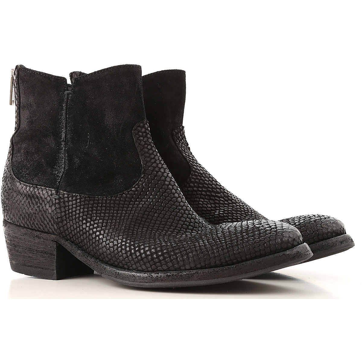 Image of Pantanetti Boots for Women, Booties, Black, Suede leather, 2017, 10 6 7 9