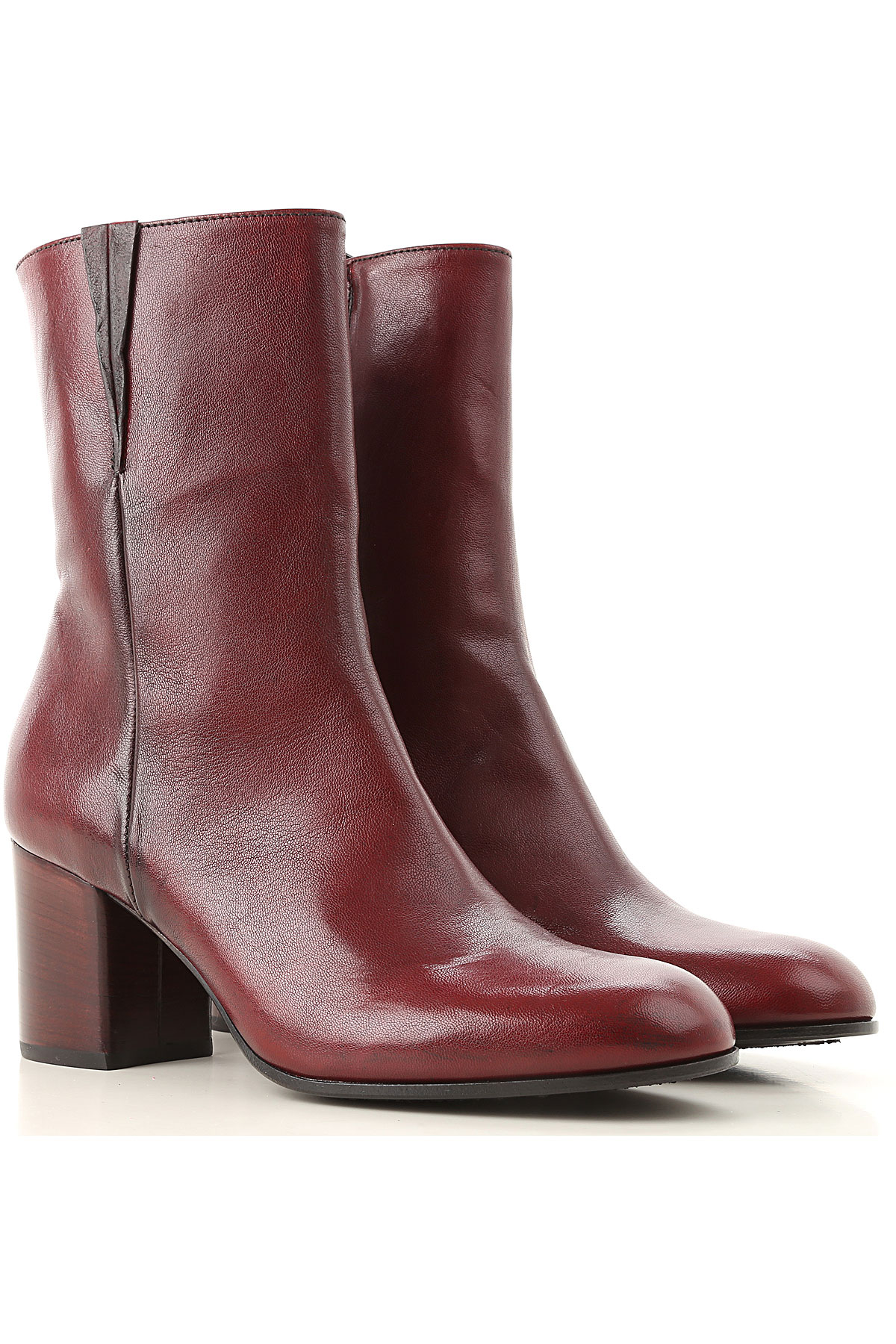 Image of Pantanetti Boots for Women, Booties, Bordeaux, Leather, 2017, 6 7 8 9