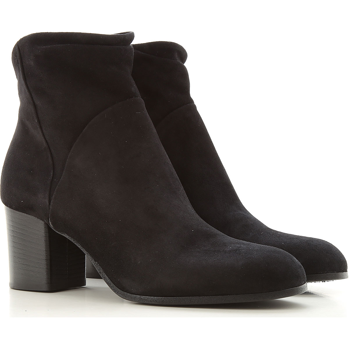 Pantanetti Boots for Women, Booties On Sale, Black, suede, 2019, 7 8 9