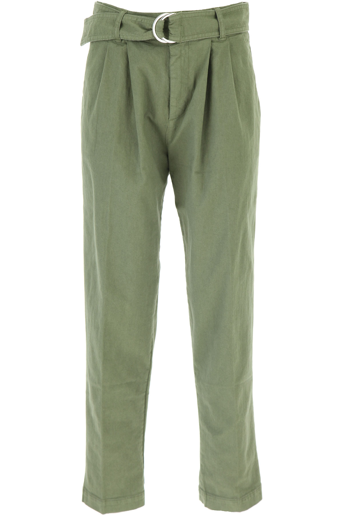 P.A.R.O.S.H. Pants for Women On Sale, Grass Green, Cotton, 2019, 26 28