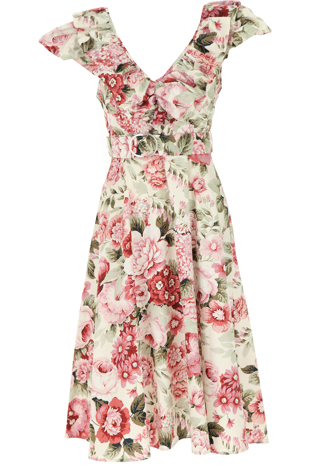 P.A.R.O.S.H. Dress for Women, Evening Cocktail Party On Sale, Pink, Cotton, 2019, 6 8