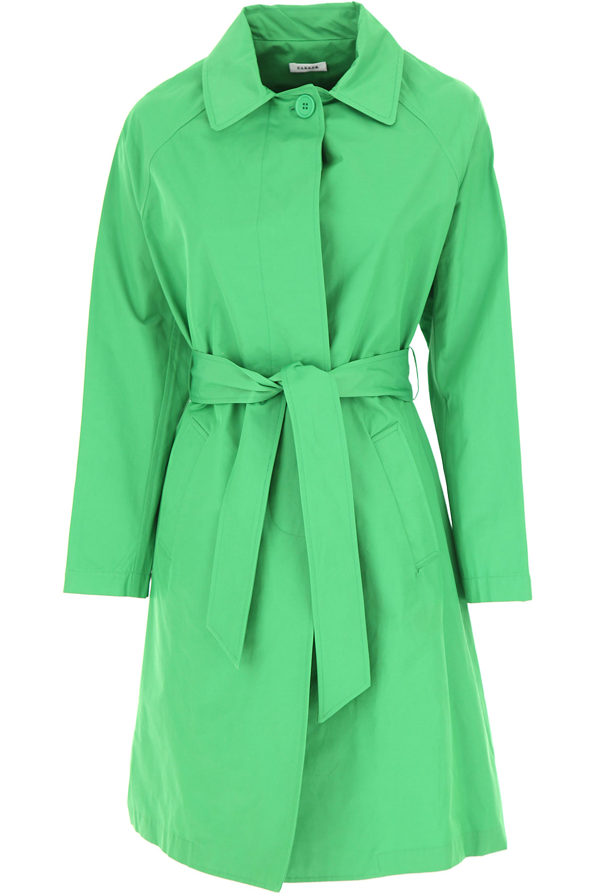 P.A.R.O.S.H. Jacket for Women On Sale, Green, Cotton, 2019, 4 6