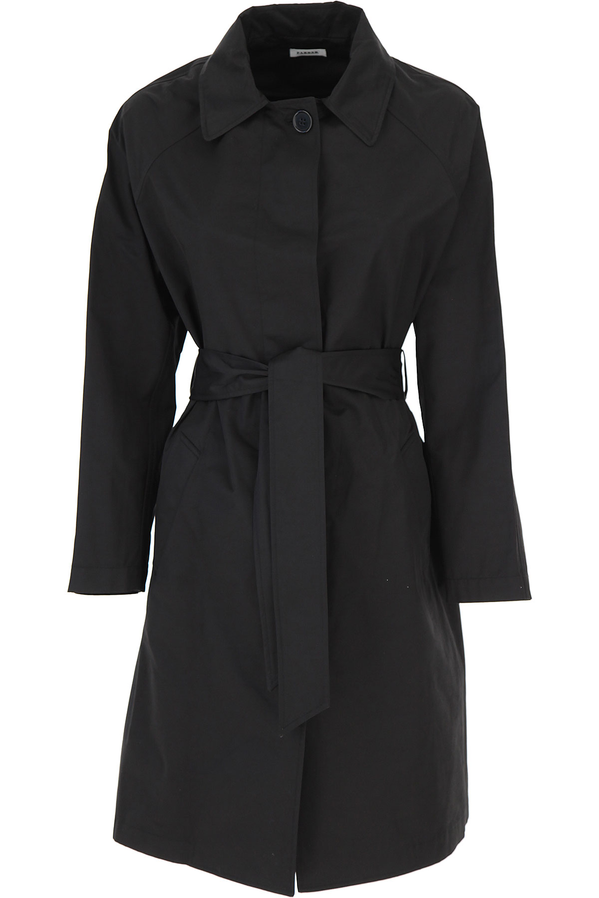 P.A.R.O.S.H. Jacket for Women On Sale, Black, Cotton, 2019, 4 6 8