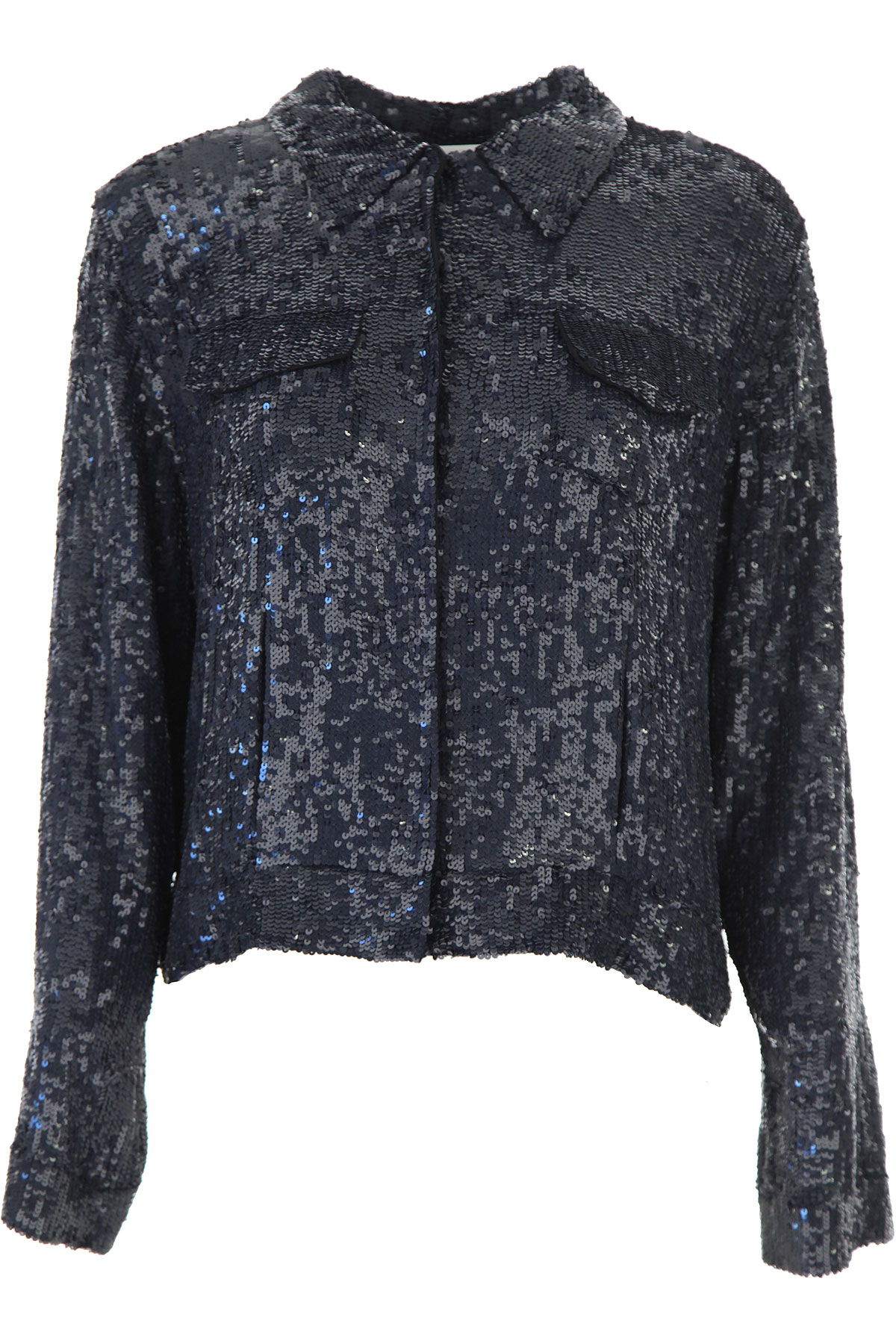 P.A.R.O.S.H. Jacket for Women On Sale, Midnight Blue, Viscose, 2019, 6 8