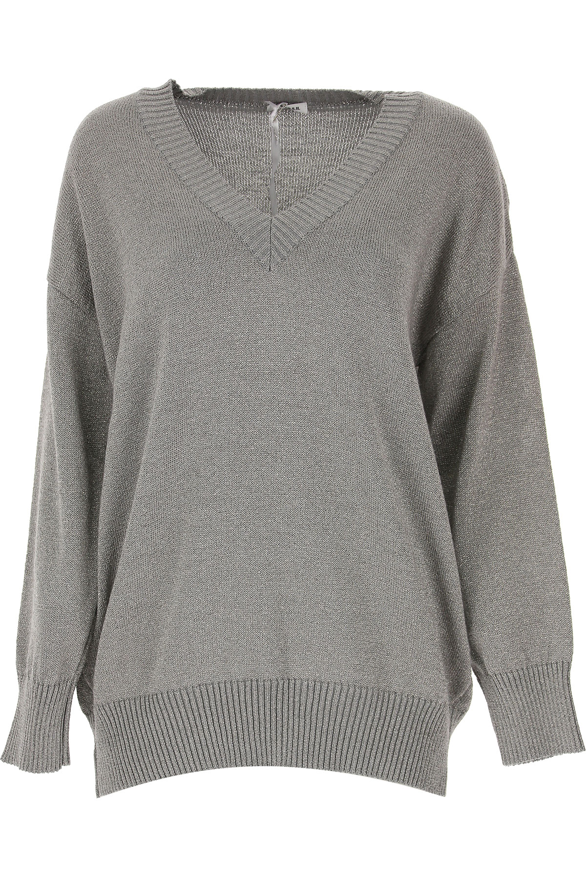 P.A.R.O.S.H. Sweater for Women Jumper On Sale, Silver, Wool, 2019, 2 4 6 8