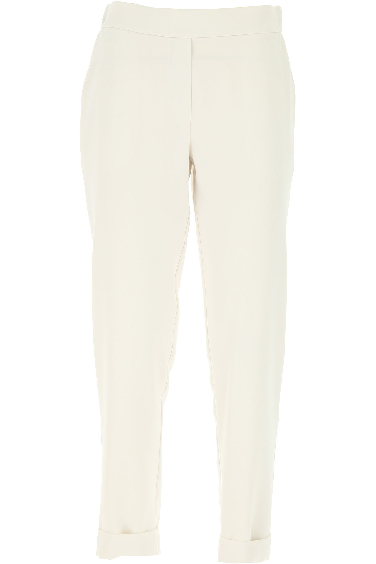 P.A.R.O.S.H. Pants for Women On Sale, Milk, polyester, 2019, 26 28 4 6