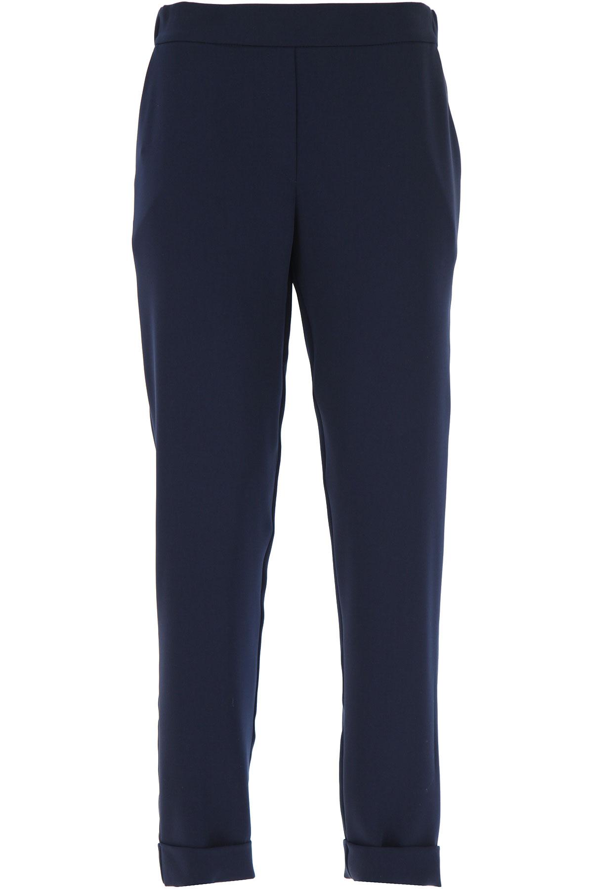 P.A.R.O.S.H. Pants for Women On Sale, Blu Navy, polyester, 2019, 4 6 8