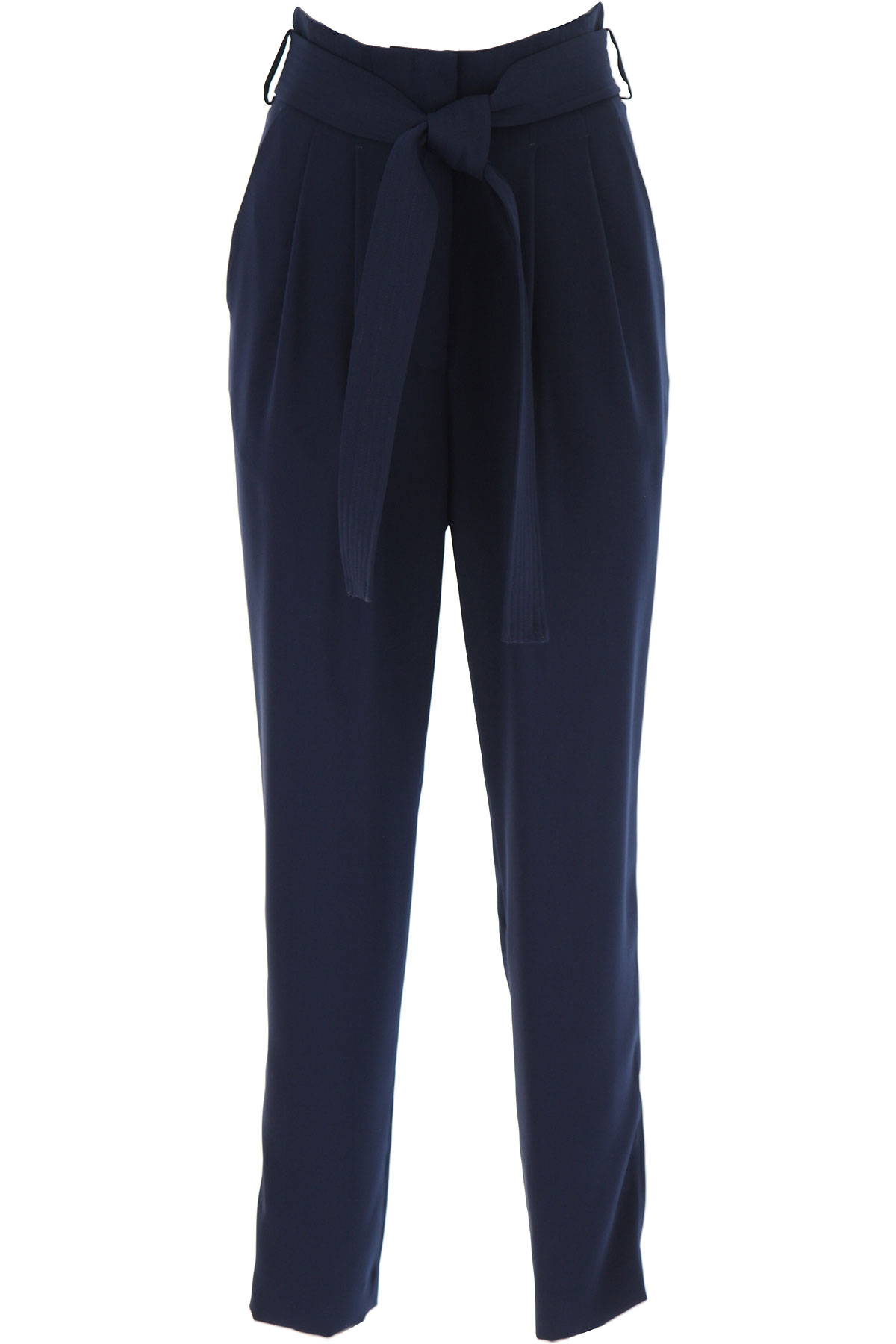 P.A.R.O.S.H. Pants for Women On Sale, Midnight Blue, polyester, 2019, 4 6
