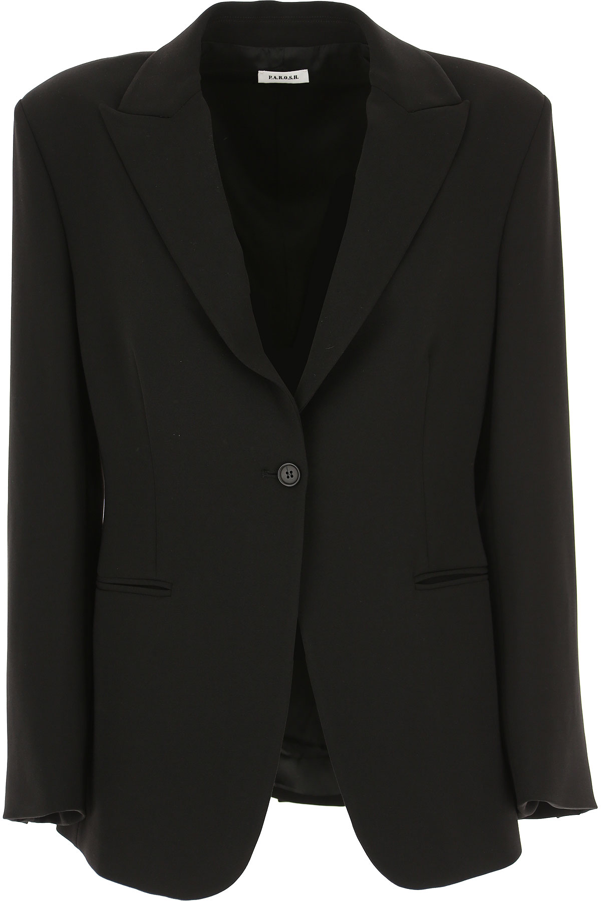 P.A.R.O.S.H. Blazer for Women On Sale, Black, polyester, 2019, 2 4 6