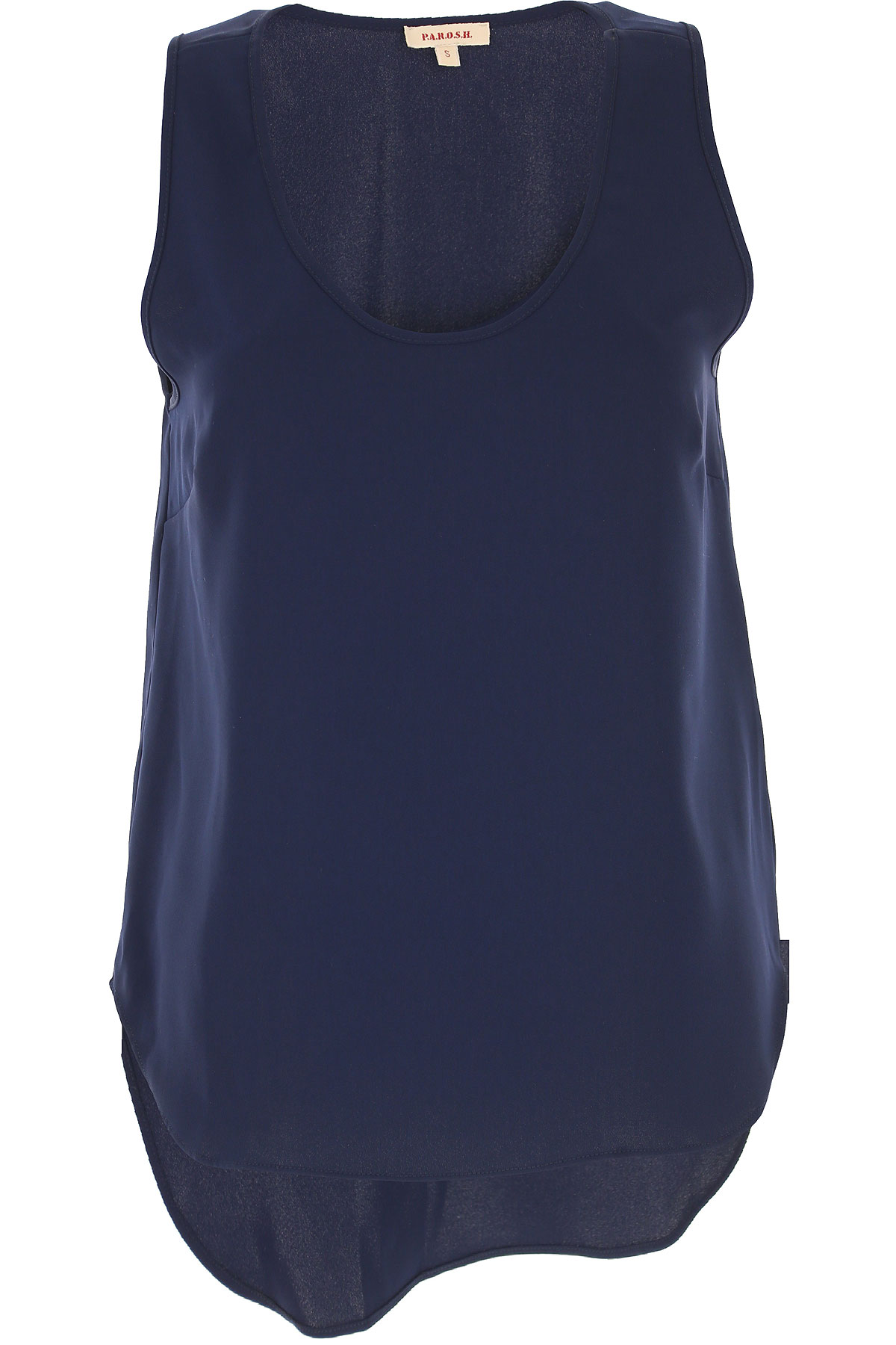 P.A.R.O.S.H. Top for Women On Sale in Outlet, Dark Blue, polyester, 2019, 4 6