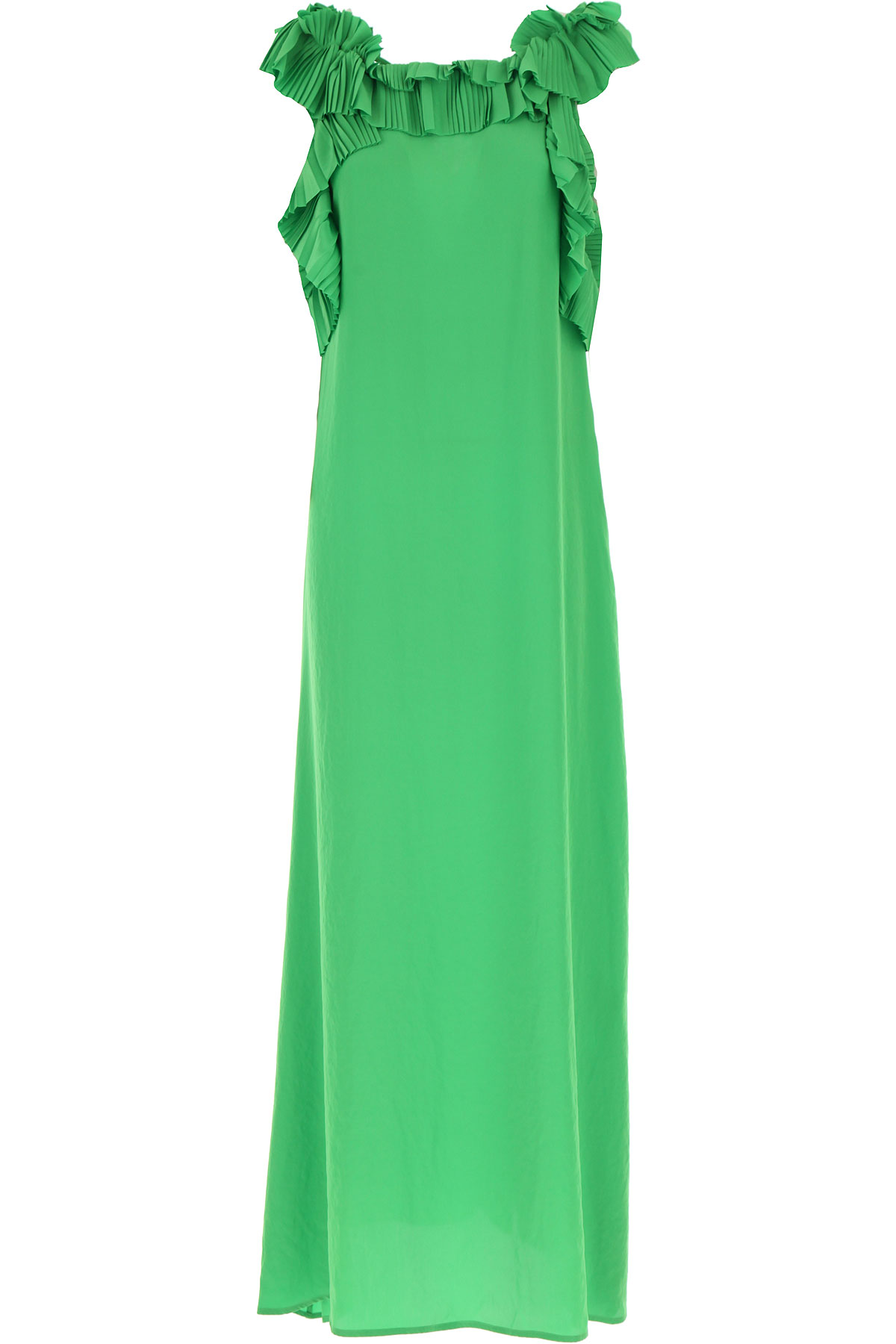 P.A.R.O.S.H. Dress for Women, Evening Cocktail Party On Sale, Green, polyester, 2019, 4
