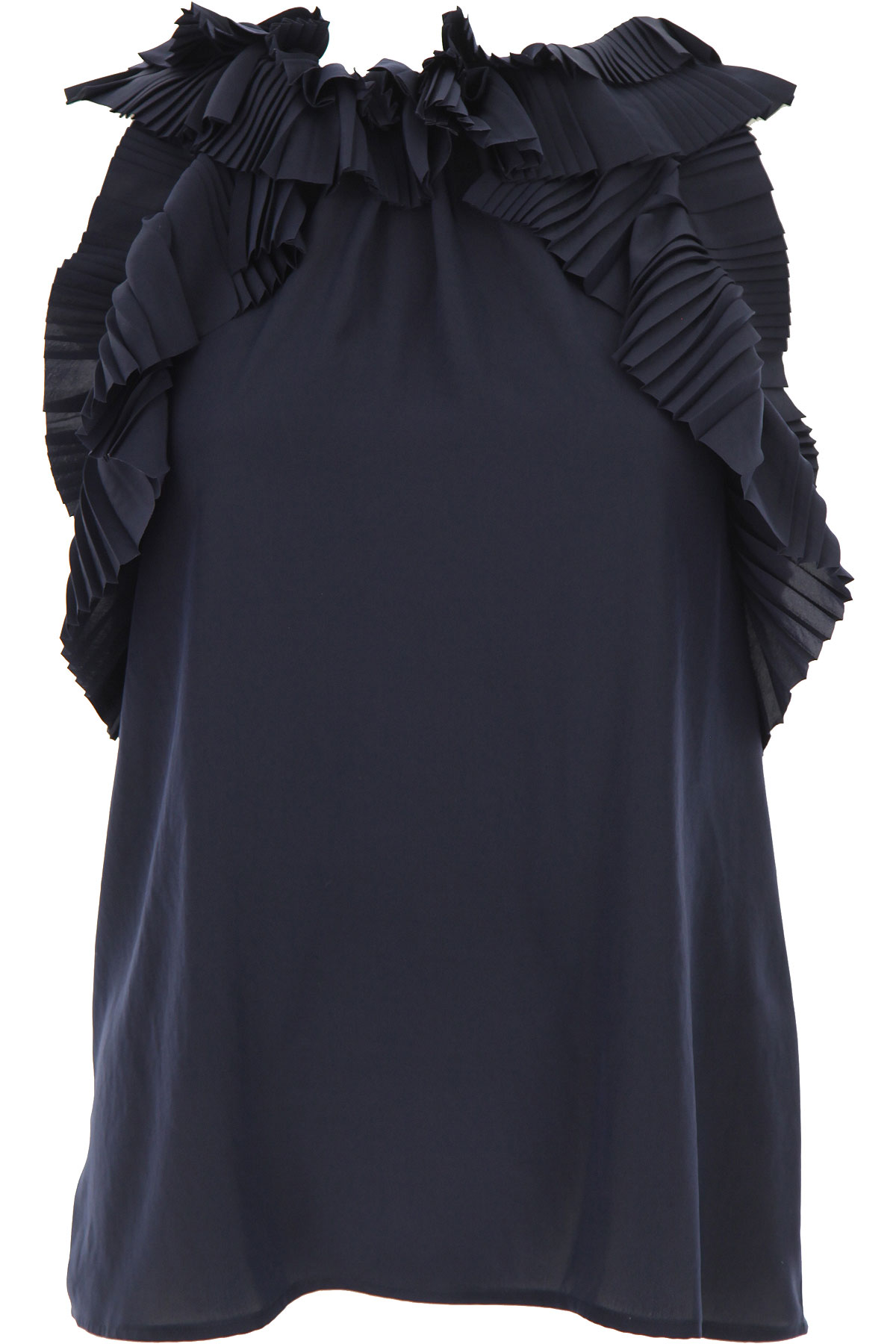P.A.R.O.S.H. Top for Women On Sale, Midnight Blue, polyester, 2019, 6