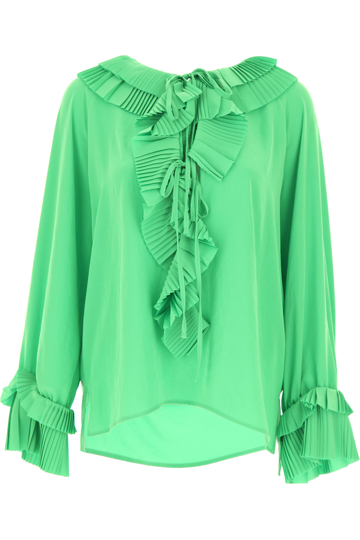 P.A.R.O.S.H. Top for Women On Sale, Green, polyester, 2019, 6