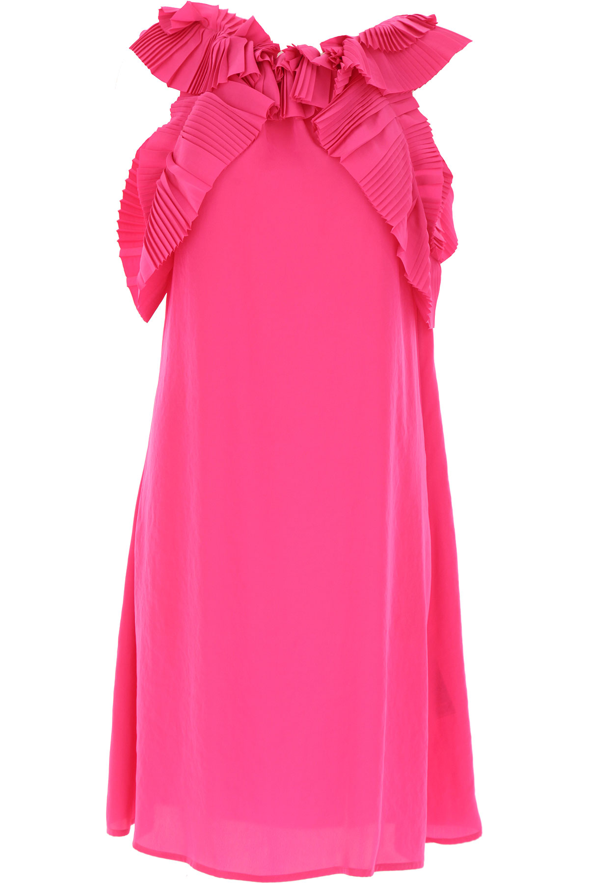 P.A.R.O.S.H. Dress for Women, Evening Cocktail Party On Sale, Hot Pink, polyester, 2019, 4 6