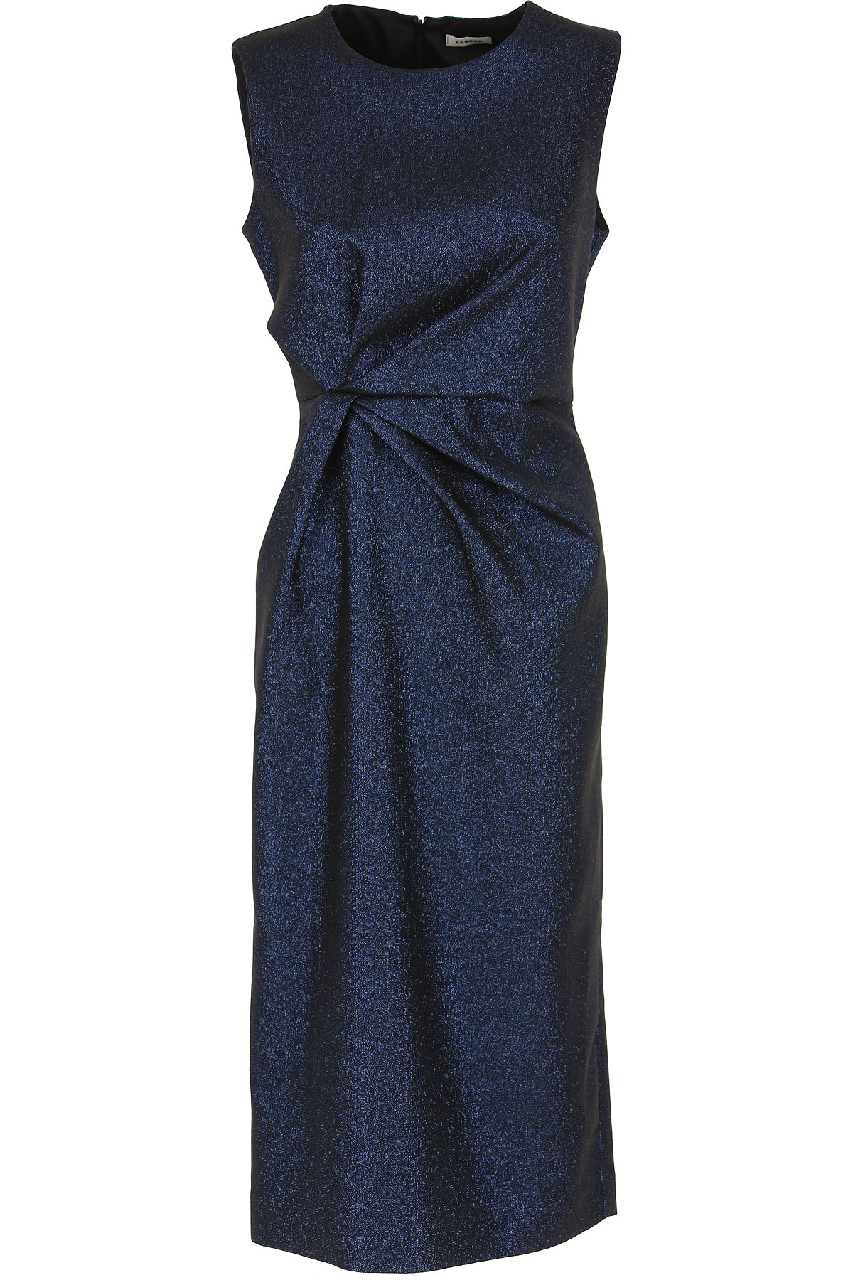 P.A.R.O.S.H. Dress for Women, Evening Cocktail Party On Sale, Midnight Blue, polyester, 2019, 2 4